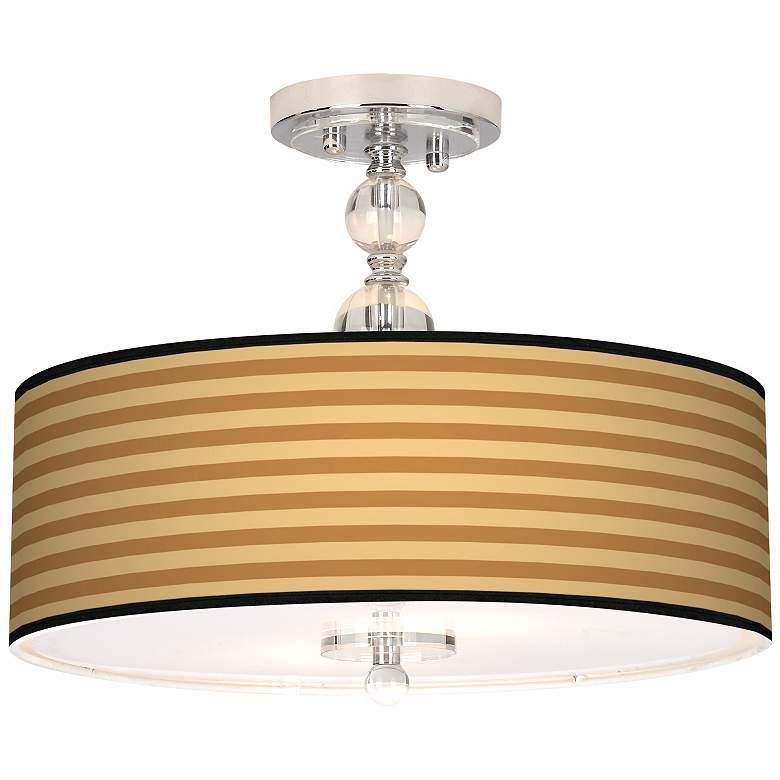 "Butterscotch Parallels 16"" Wide Semi-Flush Ceiling Light"