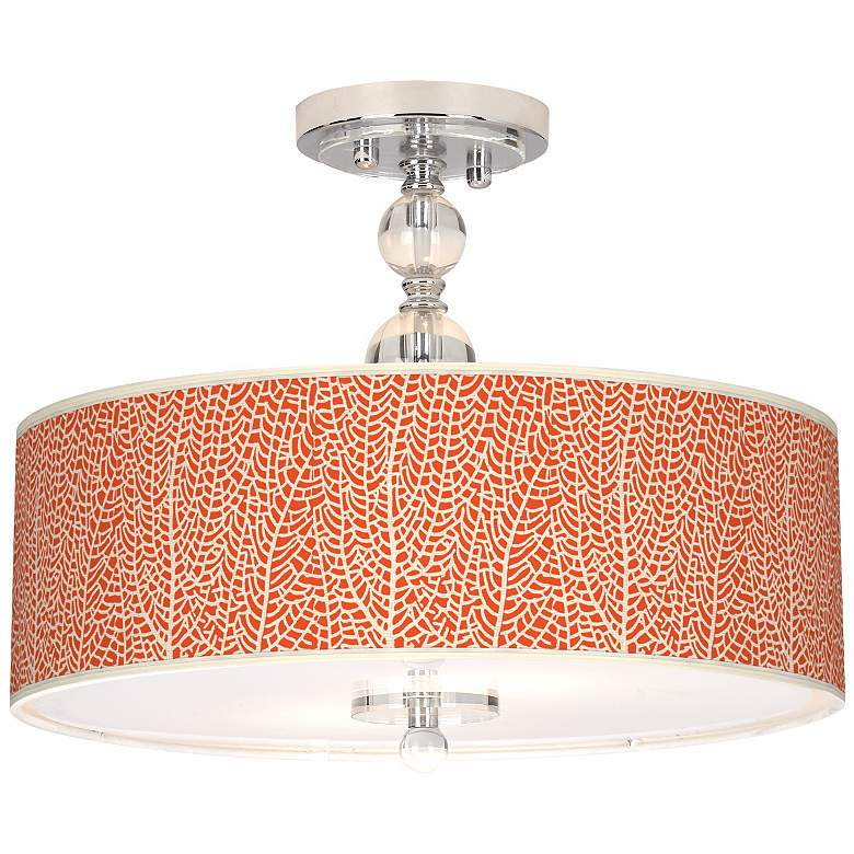 "Stacy Garcia Seafan Coral 16"" Wide Semi-Flush Ceiling Light"