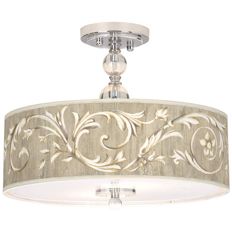 "Laurel Court Giclee 16"" Wide Semi-Flush Ceiling Light"