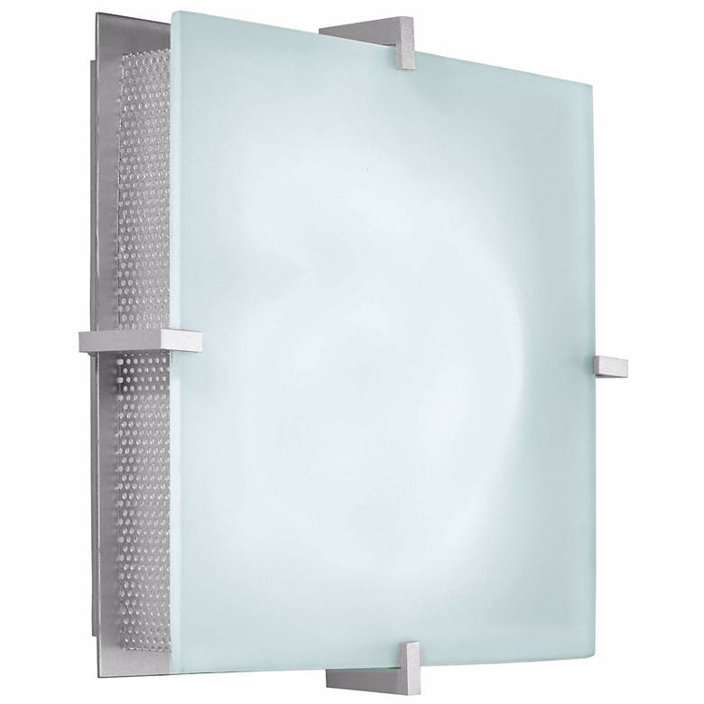 "Sonneman Handkerchief Square Silver 11"" ADA Wall Sconce"