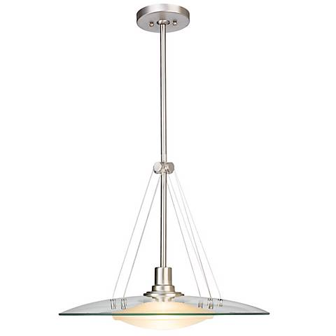 "Structures Brushed Nickel 18"" Wide Pendant Chandelier"