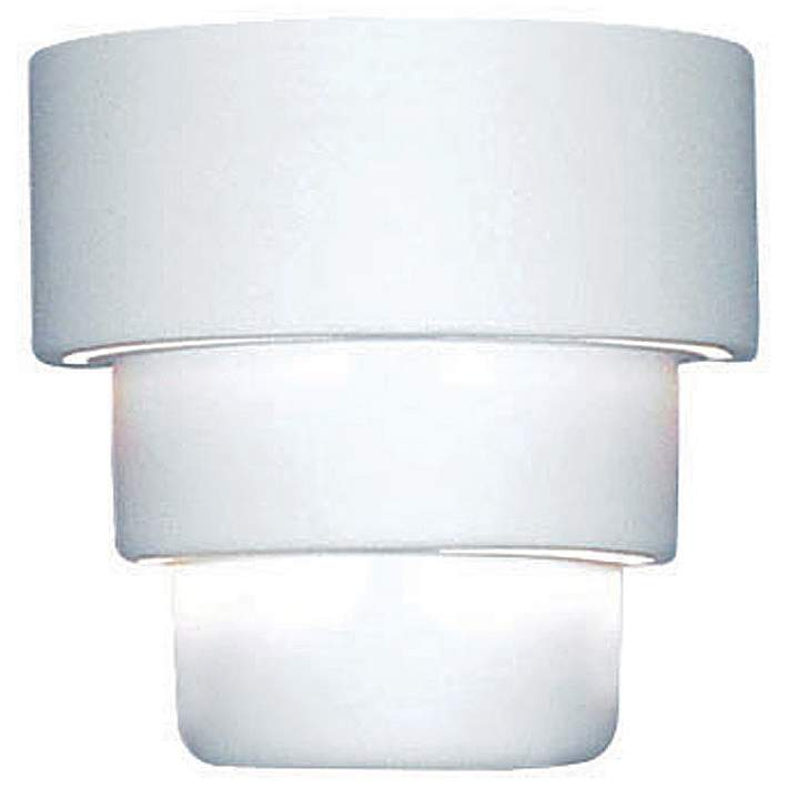 Up Down 10 High Ceramic Outdoor Wall Light