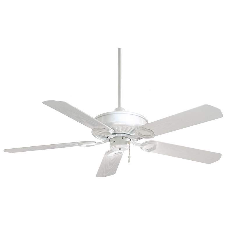 "54"" Minka Aire White Sundowner Outdoor Ceiling Fan"