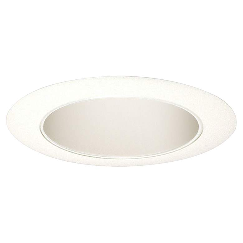 """Juno 4"""" Gloss White Round Cone Reflector Recessed Trim"""