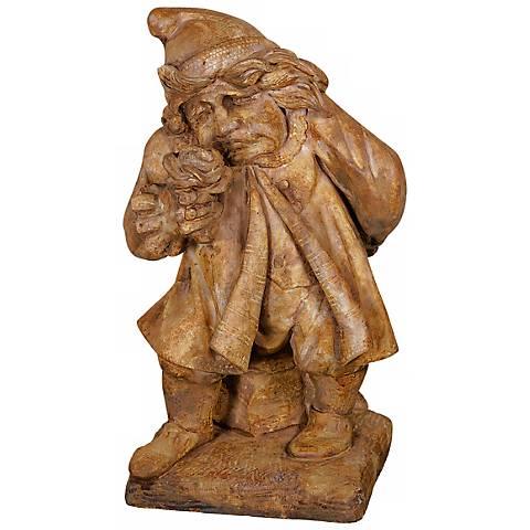 "Henri Studio Gnome of Pity Cast Stone 24"" High Garden Accent"