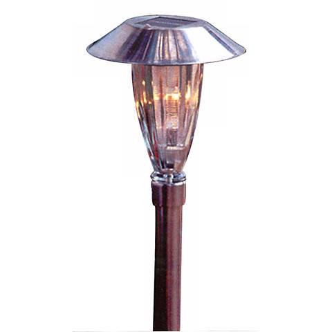 Iridescent LED Solar Path Light