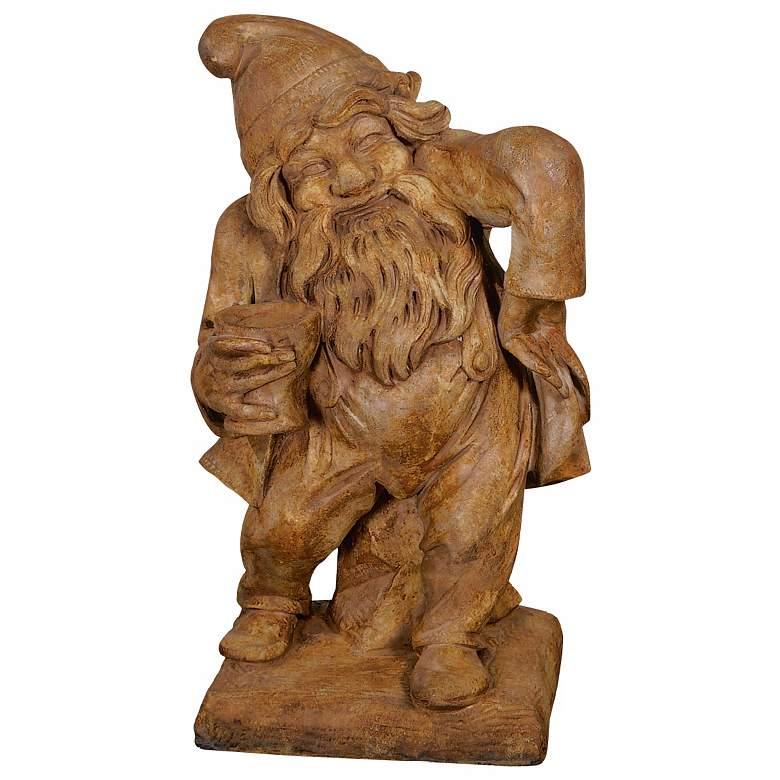 "Gnome of Merriment 24"" High Cast Stone Garden"