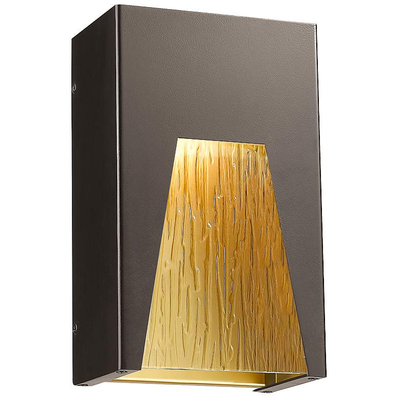 """Millenial 10"""" High Bronze Gold LED Outdoor Wall Light"""