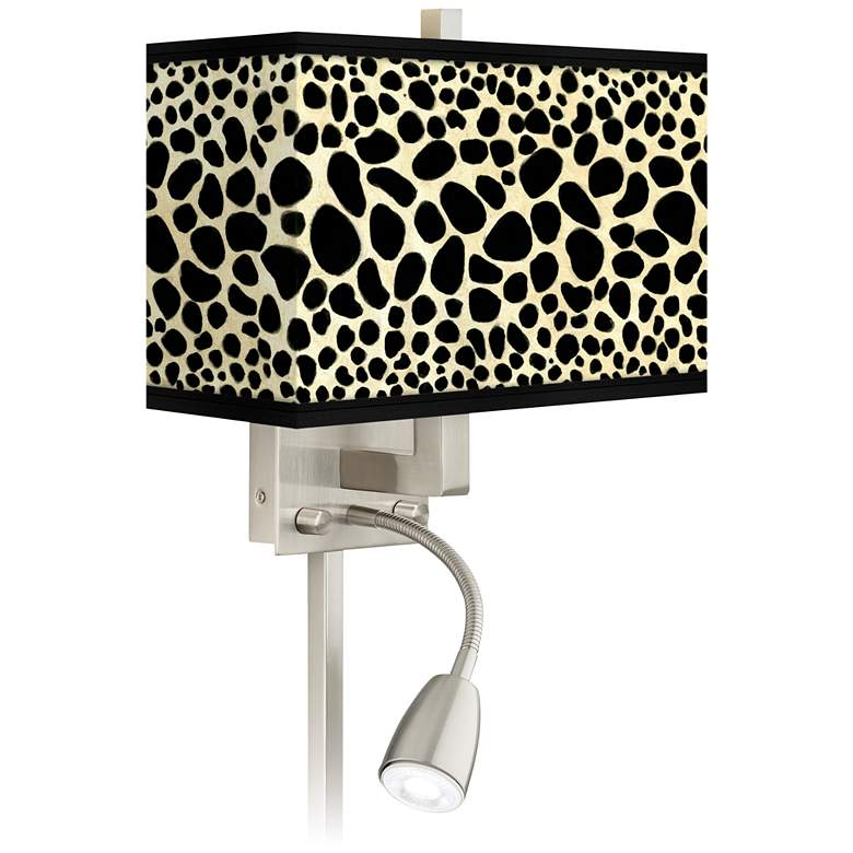 Leopard Giclee Glow LED Reading Light Plug-In Sconce
