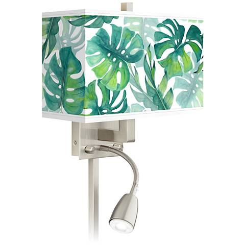 Tropica Giclee Glow LED Reading Light Plug-In Sconce