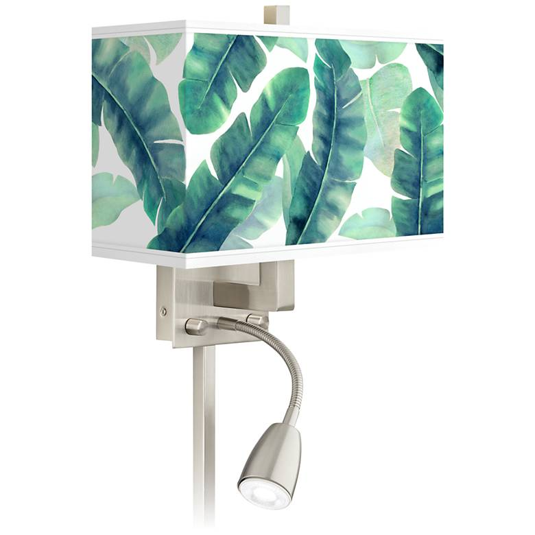 Guinea Giclee Glow LED Reading Light Plug-In Sconce