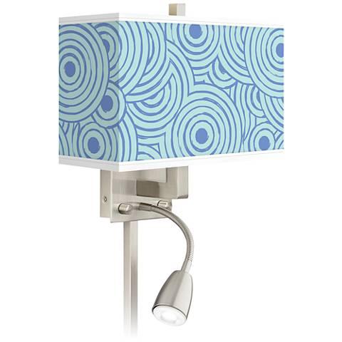 Circle Daze Giclee Glow LED Reading Light Plug-In Sconce