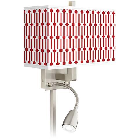 Amaze Giclee Glow LED Reading Light Plug-In Sconce