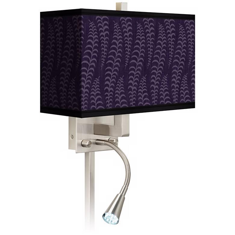Stacy Garcia Fancy Fern Rich Plum LED Light Plug-In Sconce