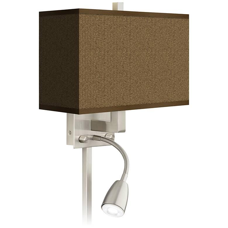 Khaki Giclee LED Reading Light Plug-In Sconce