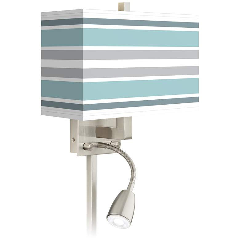 Multi Color Stripes Giclee LED Reading Light Plug-In Sconce