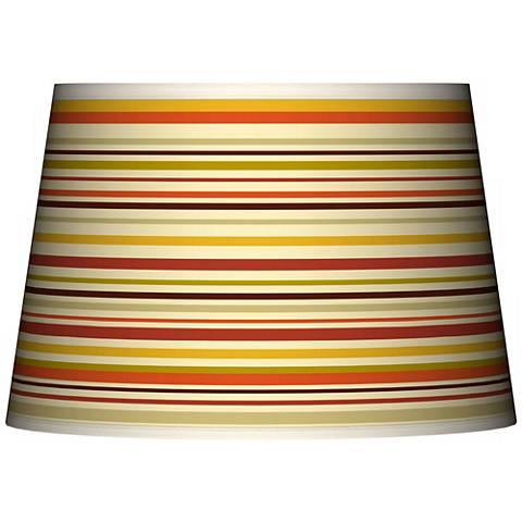 Stacy Garcia Lemongrass Stripe Tapered Shade 13x16x10.5 (Spider)