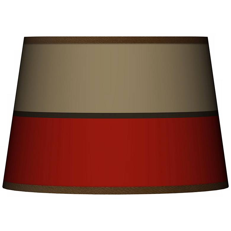 Empire Red Tapered Lamp Shade 13x16x10.5 (Spider)