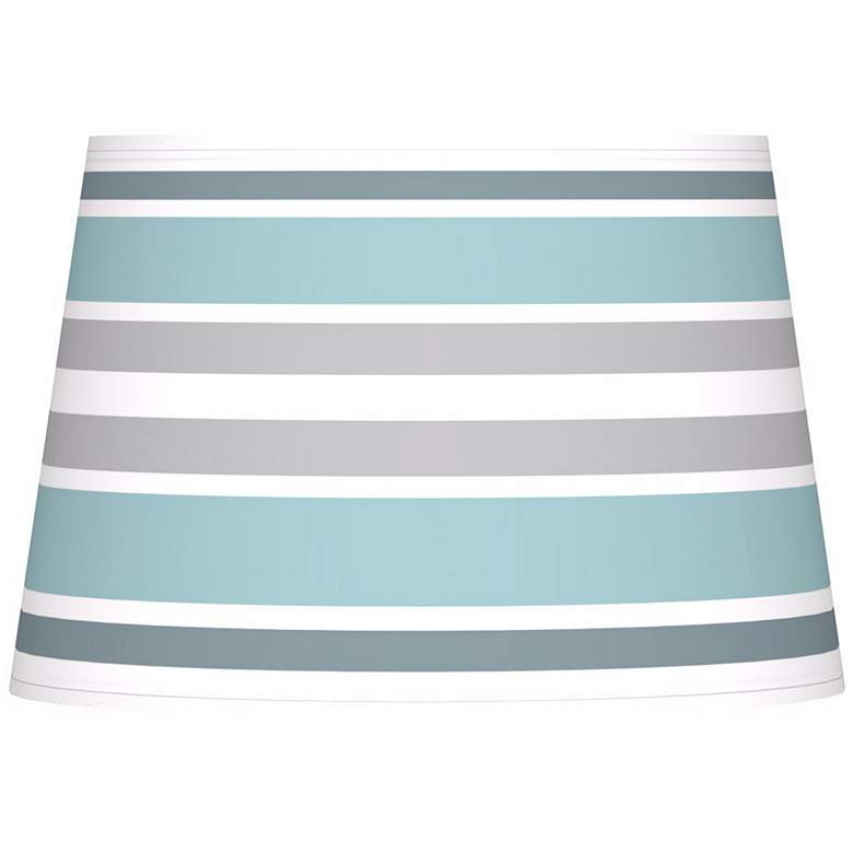 Multi Color Stripes Giclee Tapered Lamp Shade 13x16x10.5