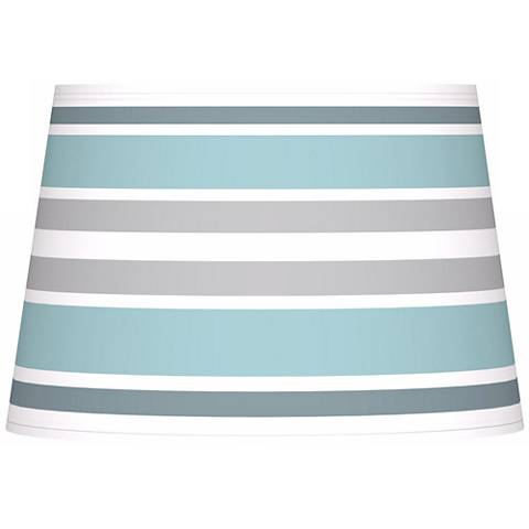 Multi Color Stripes Giclee Tapered Lamp Shade 13x16x10.5 (Spider)