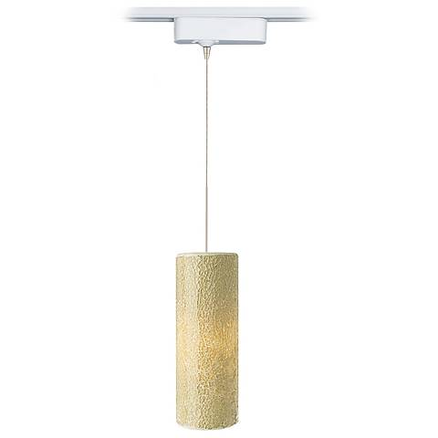 Veil Latte Glass LED Tech Track Pendant for Juno Track Systems