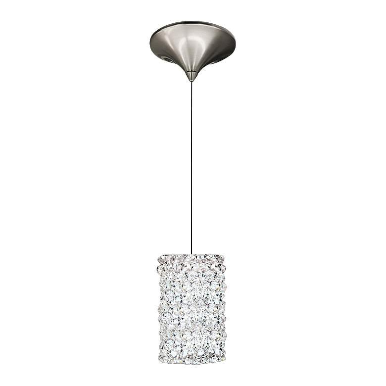 "WAC Haven 3"" Wide LED White Diamond Nickel Mini Pendant"