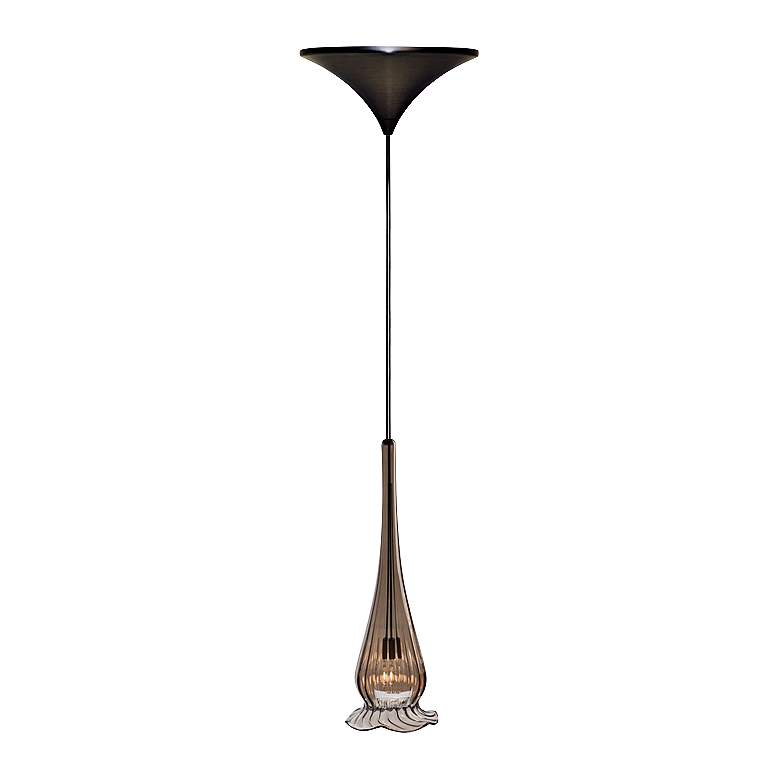 "WAC Lucia 4 1/4""W Bronze Glass Low Voltage Mini Pendant"