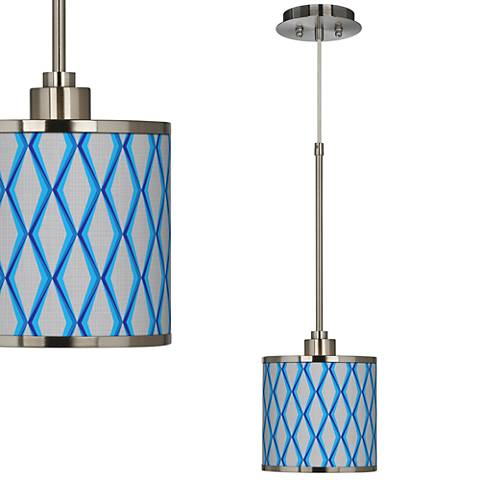 Bleu Matrix Giclee Glow Mini Pendant Light