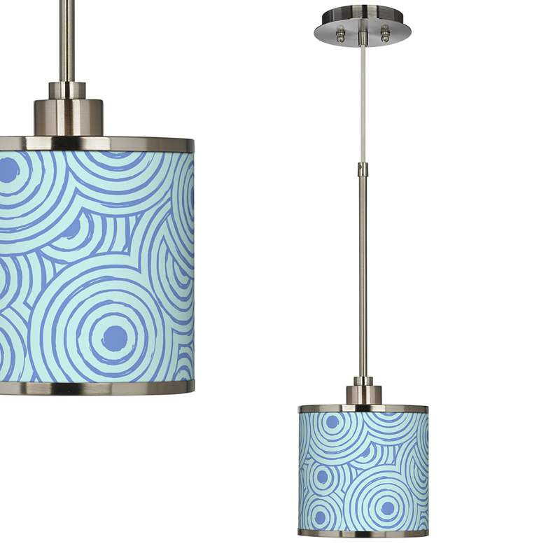 Circle Daze Giclee Glow Mini Pendant Light