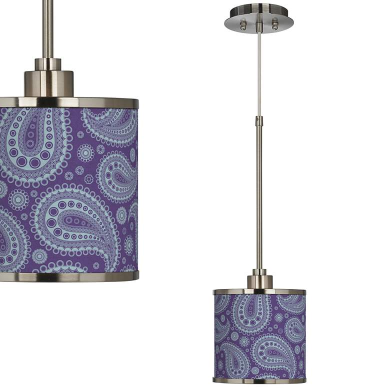 Paisley Power Giclee Glow Mini Pendant Light