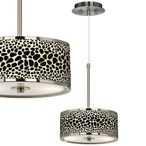 """Leopard Giclee Glow 10 1/4"""" Wide Mini Pendant"""