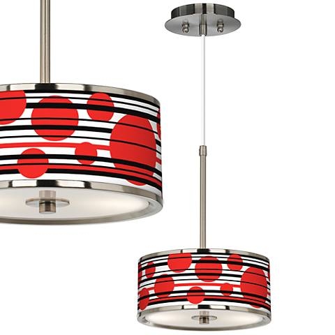 "Red Balls Giclee Glow 10 1/4"" Wide Mini Pendant"