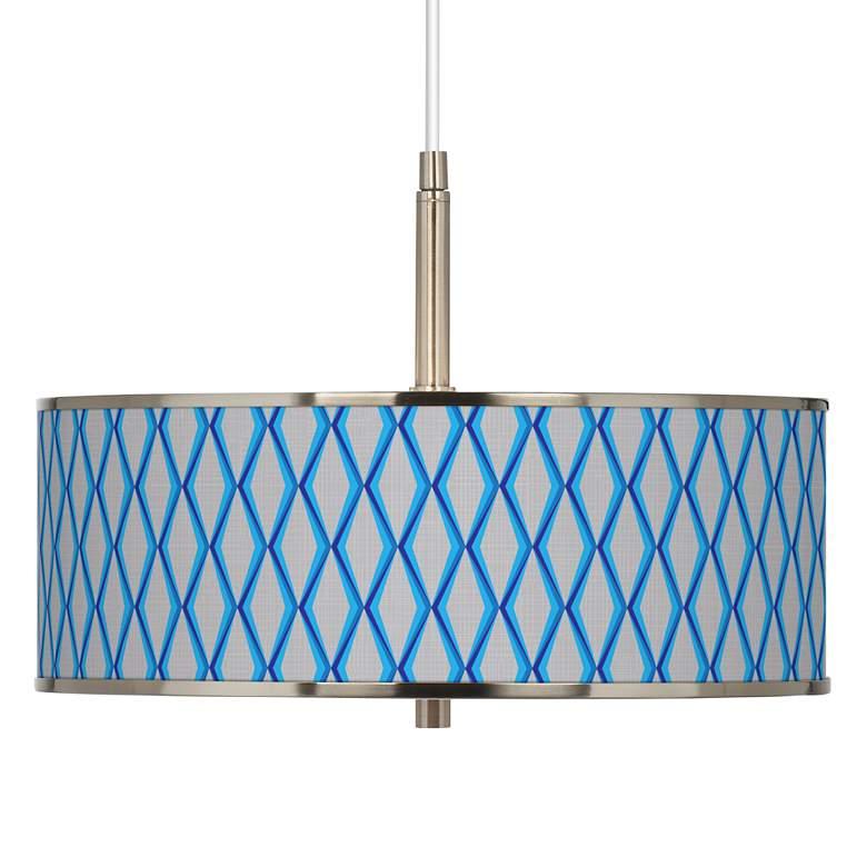 """Bleu Matrix Giclee Glow 16"""" Wide Pendant Light"""
