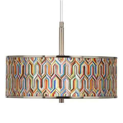"""Synthesis Giclee Glow 16"""" Wide Pendant Light"""