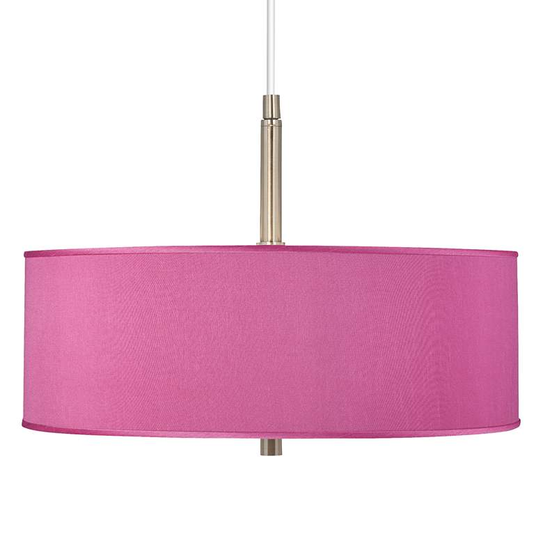 """Pink Orchid Polyester 16"""" Wide Pendant Chandelier"""