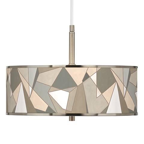 "Modern Mosaic I Giclee Glow 16"" Wide Pendant Light"