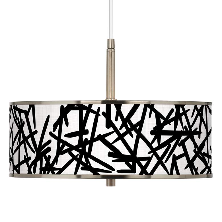 "Sketchy Giclee Glow 16"" Wide Pendant Light"
