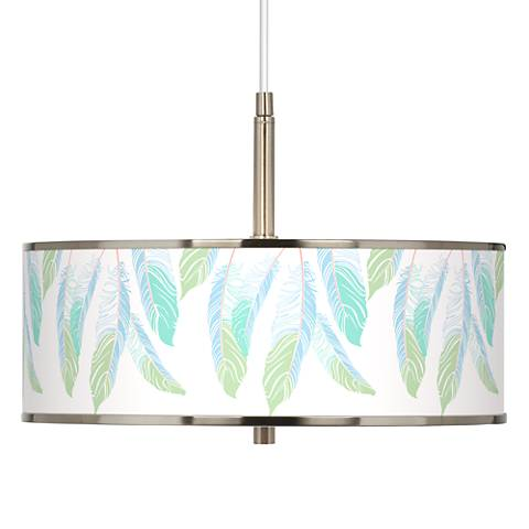 "Light as a Feather Giclee Glow 16"" Wide Pendant Light"