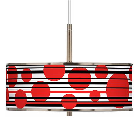 "Red Balls Giclee Glow 16"" Wide Pendant Light"