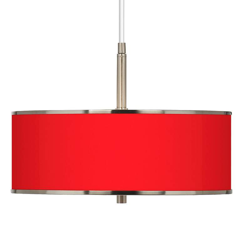 """All Red Giclee Glow 16"""" Wide Pendant Light"""