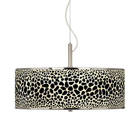 """Leopard Giclee Glow 20"""" Wide Pendant Light"""