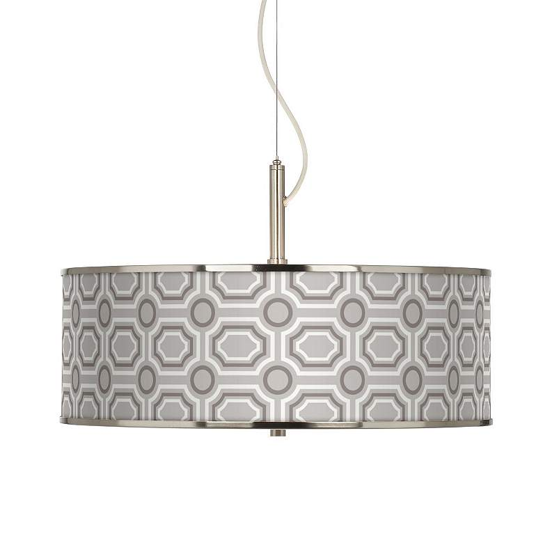 "Luxe Tile Giclee Glow 20"" Wide Pendant Light"