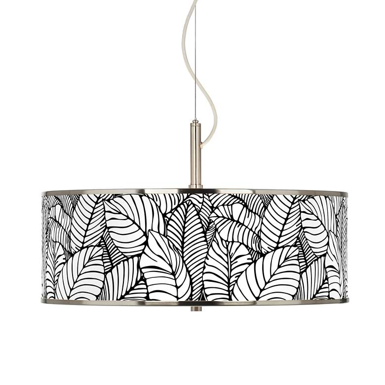 """Tropical Leaves Giclee Glow 20"""" Wide Pendant Light"""
