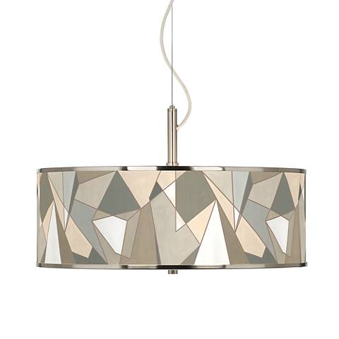 "Modern Mosaic I Giclee Glow 20"" Wide Pendant Light"
