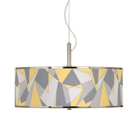 "Modern Mosaic II Giclee Glow 20"" Wide Pendant Light"