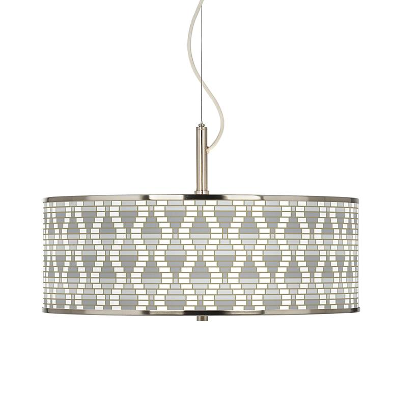 """Stepping Out Giclee Glow 20"""" Wide Pendant Light"""