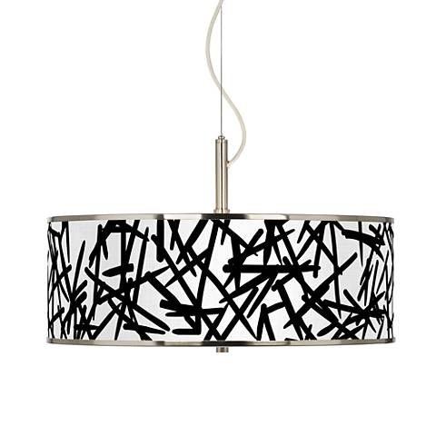 """Sketchy Giclee Glow 20"""" Wide Pendant Light"""