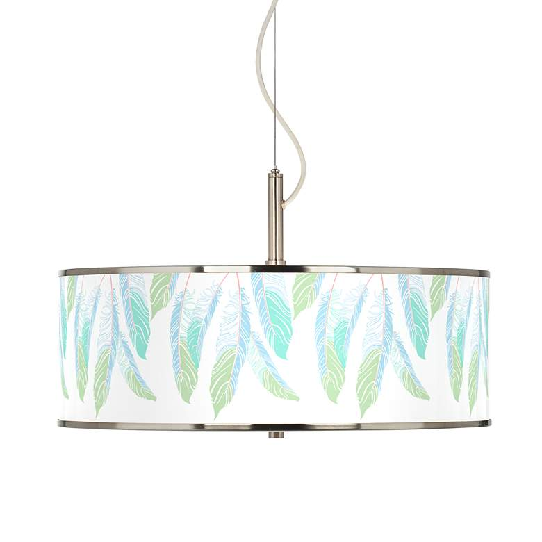 """Light as a Feather Giclee Glow 20"""" Wide Pendant Light"""