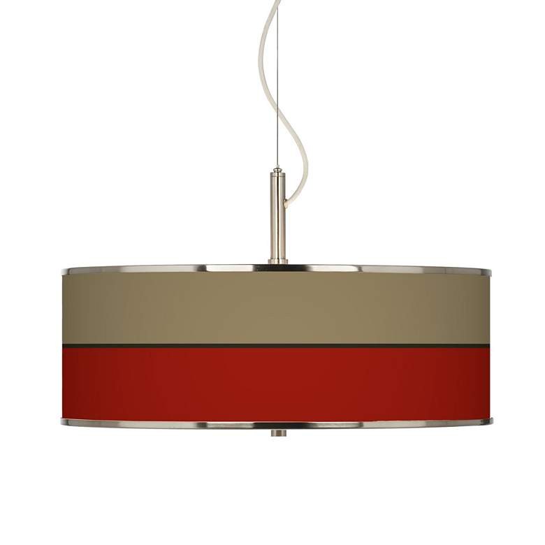 """Empire Red Giclee Glow 20"""" Wide Pendant Light"""