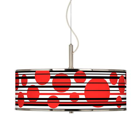 """Red Balls Giclee Glow 20"""" Wide Pendant Light"""